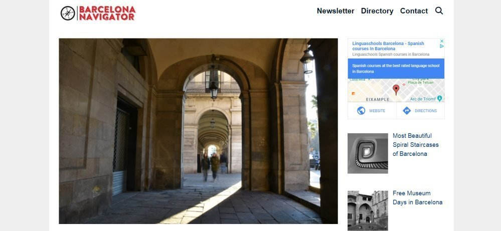 Screenshot from the Barcelona Navigator blog