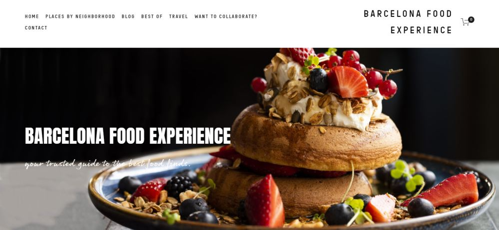 Barcelona Food Experience homepage - one of Barcelona's best food blogs