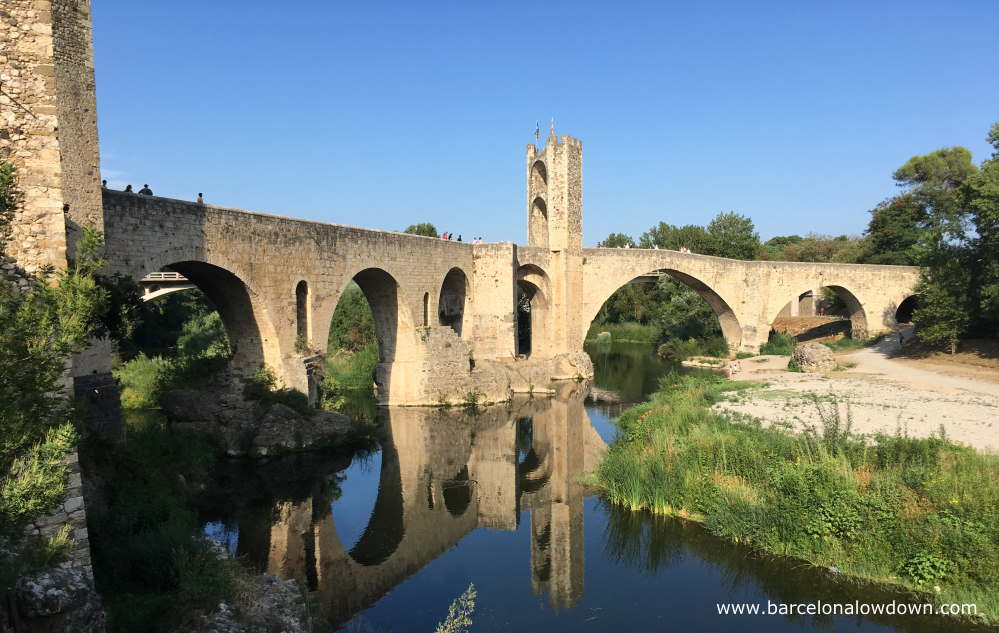 The 11th Century Stone Bridge Over the River Fluviá, Besalú near Girona