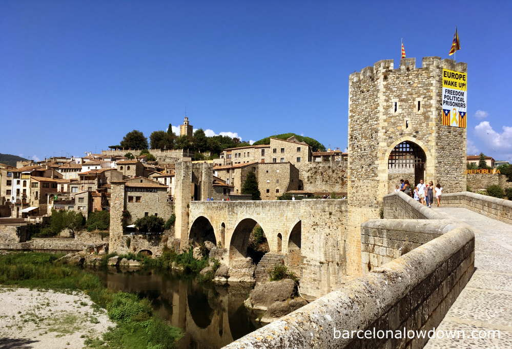 The medieval village of Besalú in the Garrotxa region of Catalonia, Spain