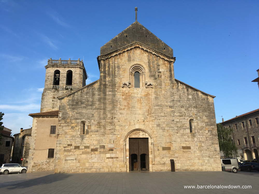 The 11th Century Monastery of Saint Paul (Monestir de Sant Pau) in Besalú, Spain