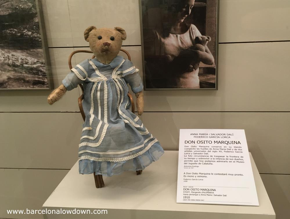 Teddy bear which was owned by Anna Maria Dalí and played with by Salvador Dali and Federico Garcia Lorca