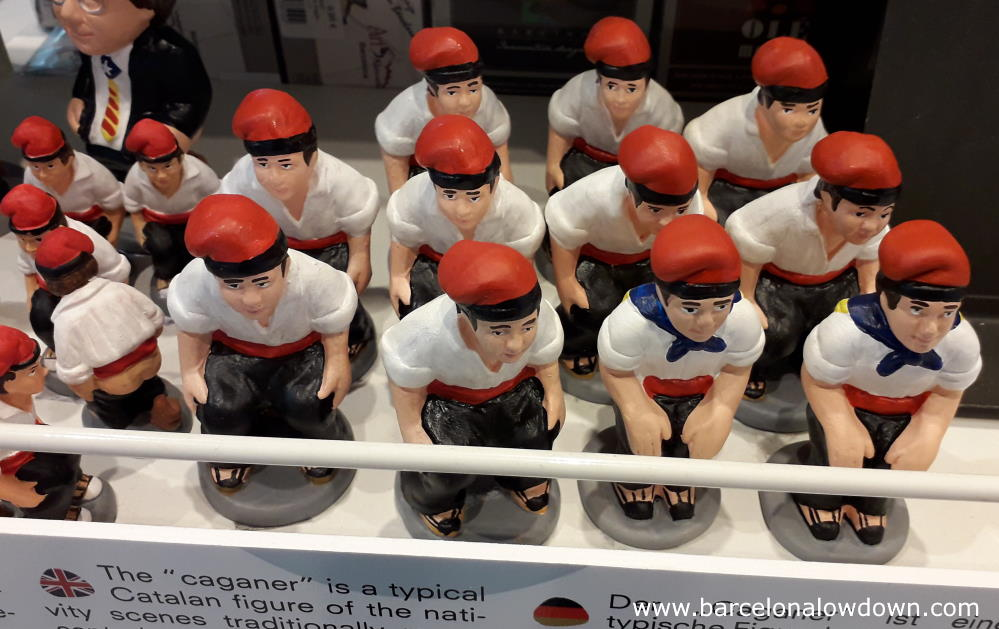 Souvenir caganers at Barcelona airport