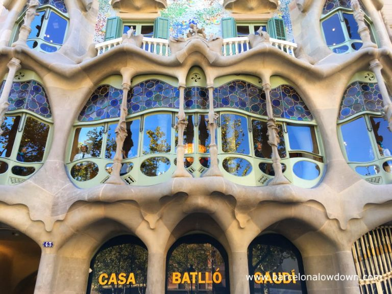 The façade of Casa Batlló which was featured in the Fabulous Furry Freak Brothers the Idiots Abroad by Gilbert Shelton