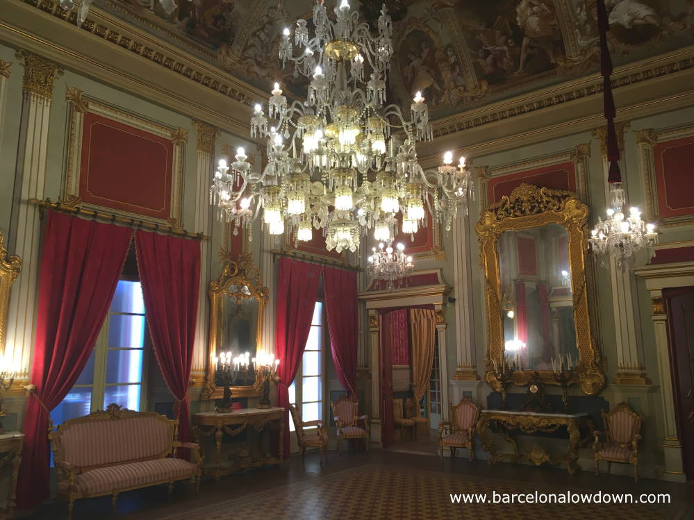 The richly decorated ballroom of Casa Castellarnau fifteenth century palace, Tarragona