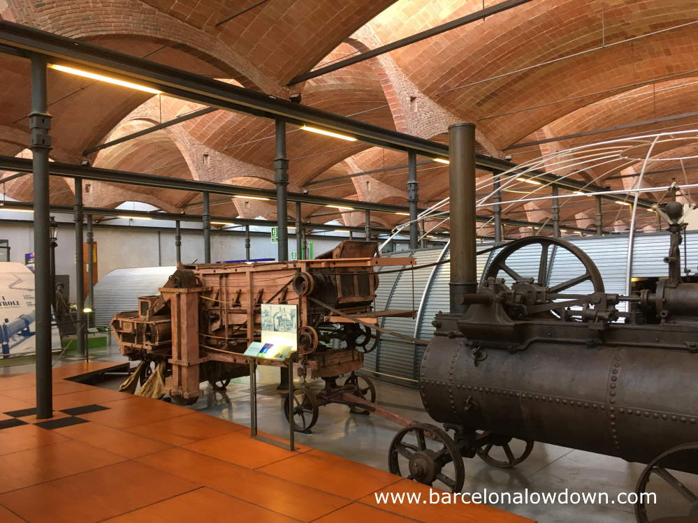 Traction engines on display at the National Museum of Science and Technology of Catalonia in Terrassa, near Barcelona, Spain