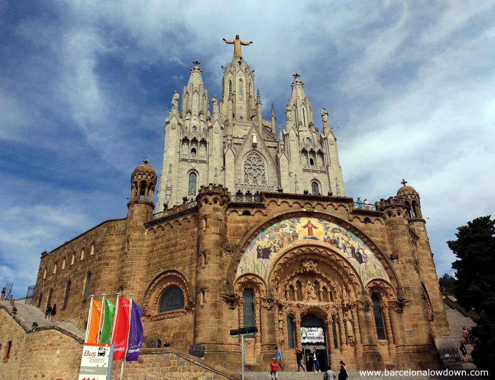 The church at the top of Mount Tibidabo, Barcelona