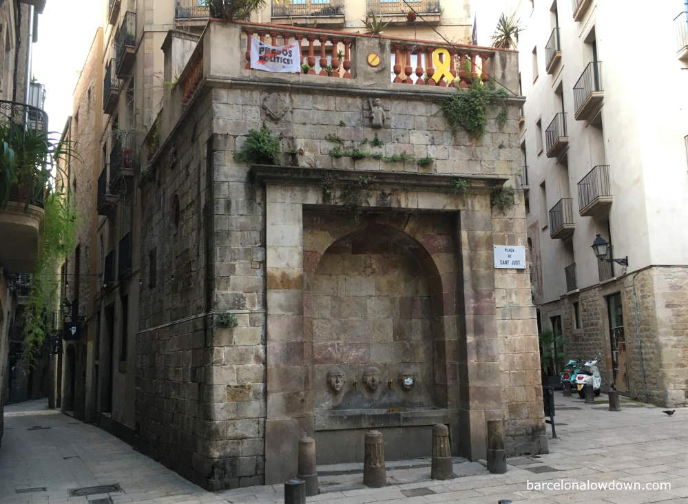 The fountain of Saint Just in Barcelona's Gothic Quarter