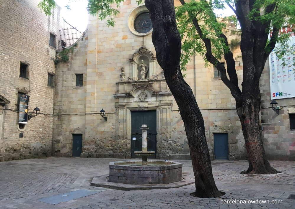 Felip Neri Square in Barcelona Gothic quarter