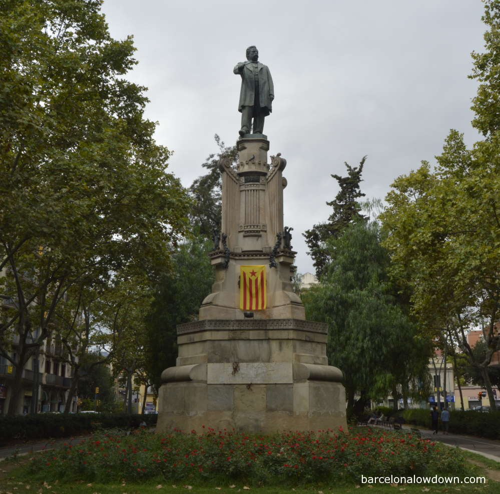 Monument to the Catalan composer and politicain Josep Anselm Clavé in Barcelona, Spain