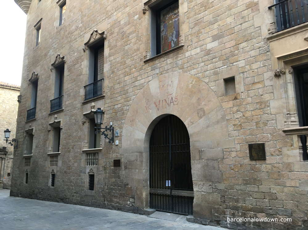 The 16th century Viceroys palace which was built out of stone from Montjuic including a number of Jewish tombstones