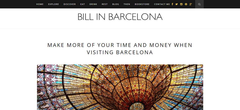 The homepage of Bill Sinclair's blog - Bill in Bacelona