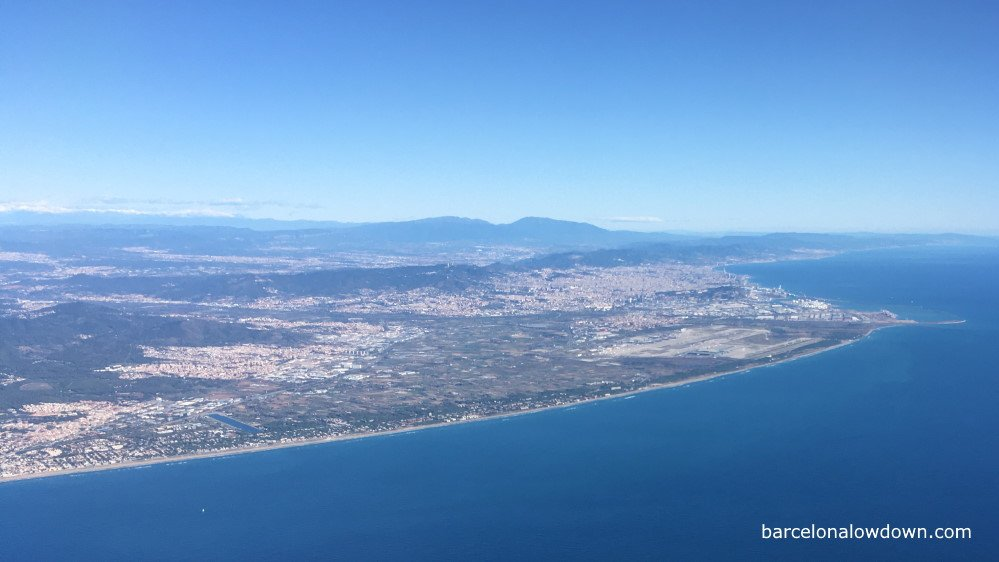 View of Barcelona BCN airport from the window seat